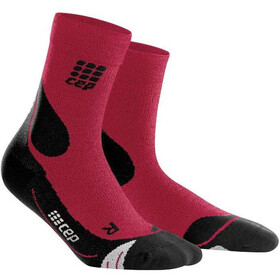 cep Dynamic+ Outdoor Calcetines Corte Medio Merino Hombre, dark red/black